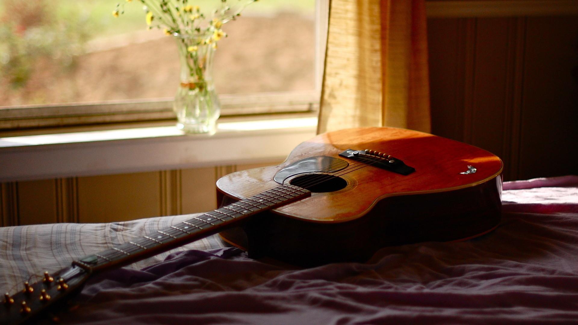 Guitarra Acústica - Fondo de pantalla