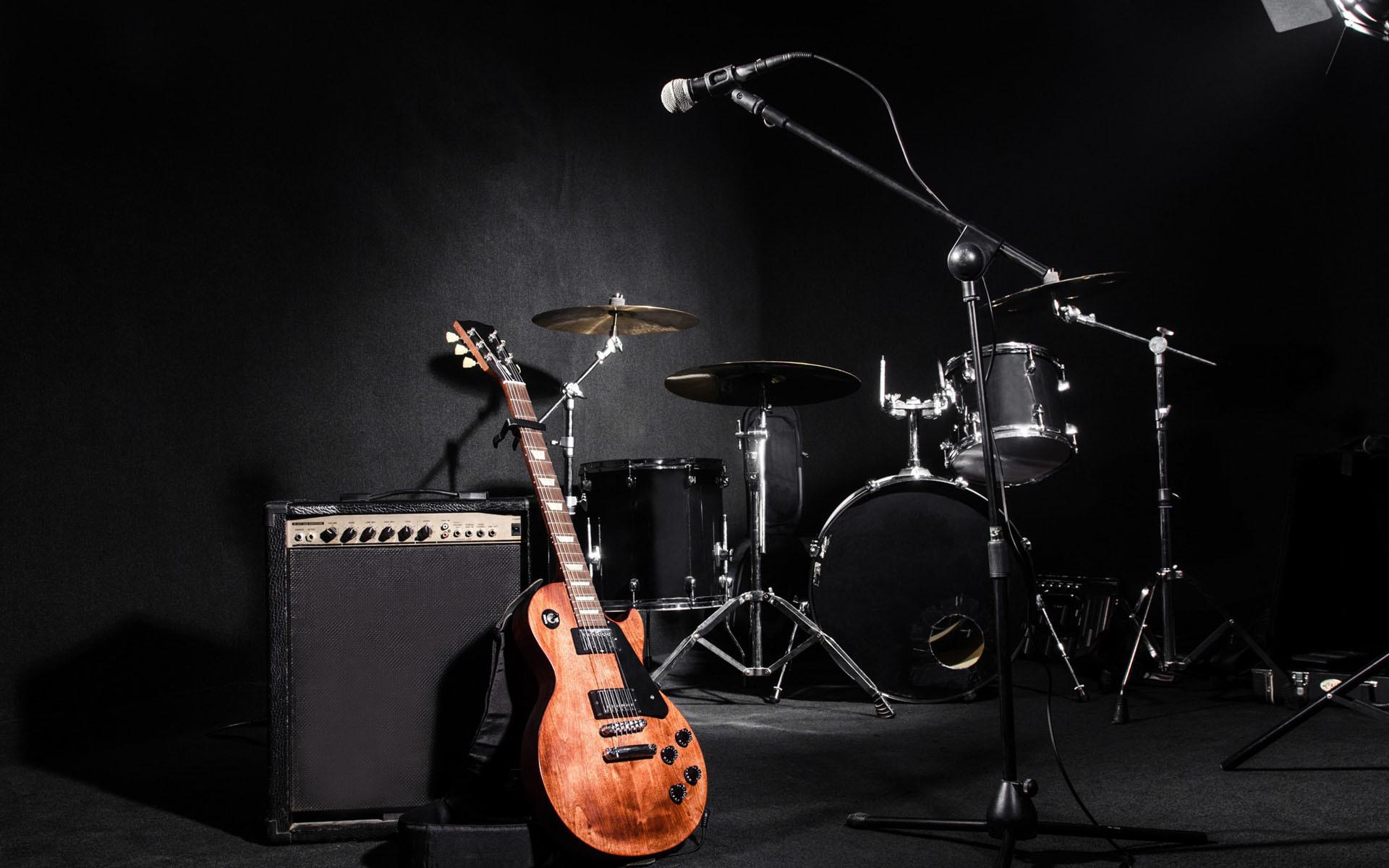 Guitarra y sala de ensaño Gibson Les Paul - Fondo de pantalla